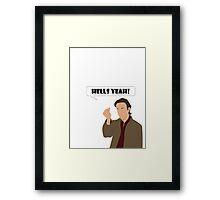 Hells yeah! Gabriel tee Framed Print