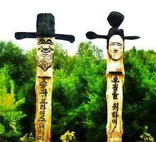 The Korean Guardian Poles by PictureNZ