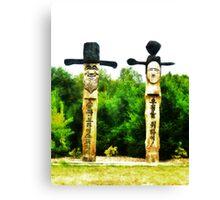 The Korean Guardian Poles Canvas Print