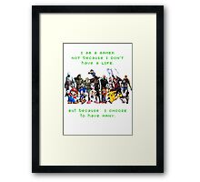 I am a GAMER Framed Print