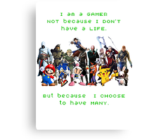 I am a GAMER Canvas Print