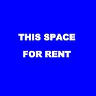This space for rent iphone case by Andrew Turley