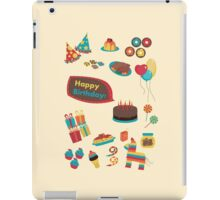 Birthday Icons! iPad Case/Skin