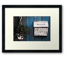 Wooden Mailbox Framed Print