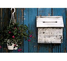 Wooden Mailbox Photographic Print