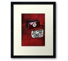 Talkie Toaster Framed Print