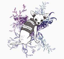 BAD dog – biker chihuahua Kids Tee