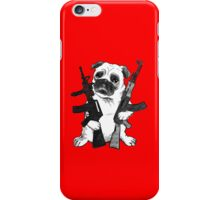 BAD dog – armed pug iPhone Case/Skin