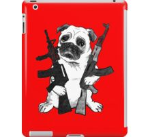 BAD dog – armed pug iPad Case/Skin