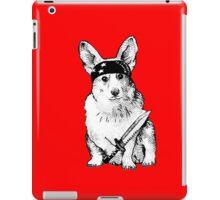 BAD dog – corgi carrying a knife iPad Case/Skin