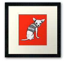 BAD dog – biker chihuahua Framed Print