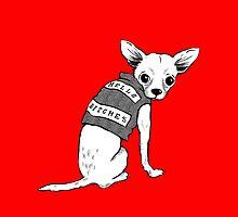 BAD dog – biker chihuahua by Jenny Holmlund