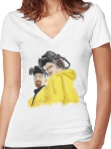 WW & JP Women's Fitted V-Neck T-Shirt