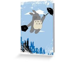 Totoro Poppins Greeting Card