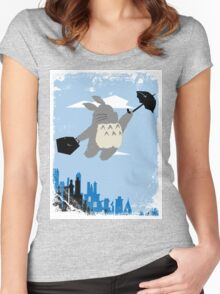 Totoro Poppins Women's Fitted Scoop T-Shirt