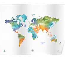 World map nature Poster