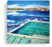 Bondi Icebergs Summer Canvas Print