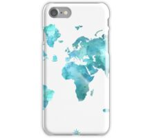 World map eco stream green iPhone Case/Skin