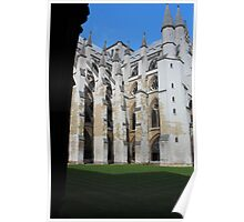 Westminster Abbey from the cloisters Poster