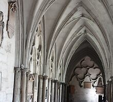 The cloisters at Westminster Abbey by corrado
