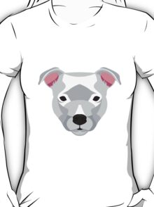 White Staffordshire Bull Terrier T-Shirt
