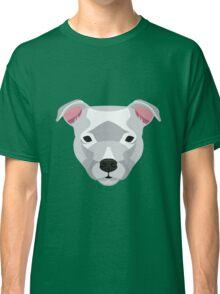 White Staffordshire Bull Terrier Classic T-Shirt