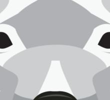 White Staffordshire Bull Terrier Sticker