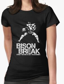 BISON BREAK - white edition Womens Fitted T-Shirt