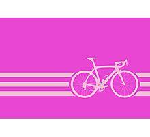 Bike Stripe Pink Photographic Print