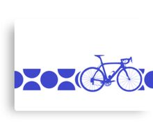 Bike Stripes King of the Mountains (Blue) Canvas Print