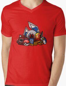 Anime Device Mens V-Neck T-Shirt
