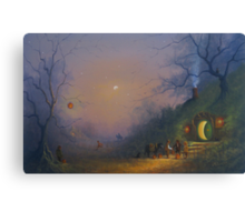 The Pumpkin Seller ( A Hobbits Halloween ). Canvas Print