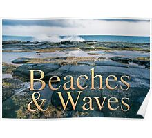 Beaches & Waves Calendar Album Cover Poster