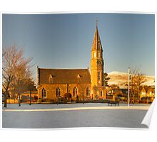 RHYNIE - NOTH PARISH CHURCH WITH SNOW Poster