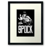 Spock The Line Framed Print