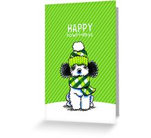 Parti Poodle Plaid Scarf Happy Howl-i-days Greeting Card
