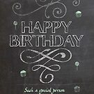 Trendy Chalk Board Effect Birthday Greeting by Moonlake