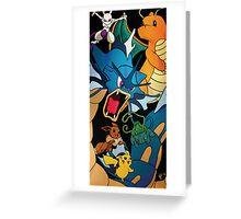 Pokemon Collage Greeting Card