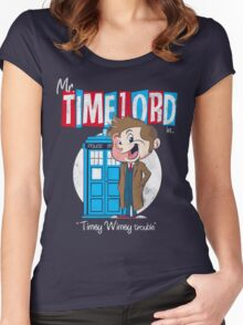 Timey Wimey trouble Women's Fitted Scoop T-Shirt