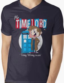 Timey Wimey trouble Mens V-Neck T-Shirt