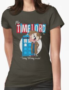 Timey Wimey trouble Womens Fitted T-Shirt