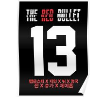 BTS THE RED BULLET (Red & White) Poster