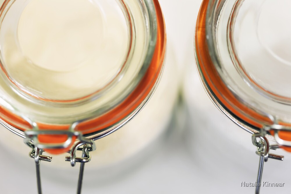 Glass Sugar Jars by Natalie Kinnear