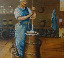Whisking Butter by Prokop