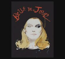 'Belle De Jour' Catherine Deneuve Vintage Movie Art T-Shirt by TrueLoveTees