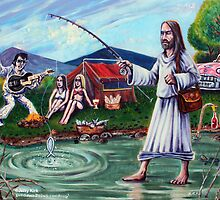 'ELVIS & JESUS CAMPING'  by Jerry Kirk