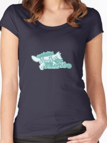 Mintfox Poster Tea and Chocolate (mint white version) Women's Fitted Scoop T-Shirt
