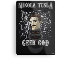 Nikola Tesla: Geek God Metal Print