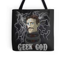 Nikola Tesla: Geek God Tote Bag