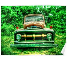 Vintage Ford Truck No. 1 HDR Poster